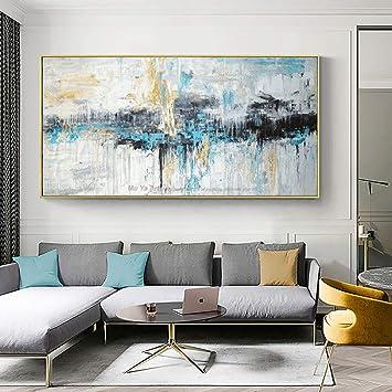 QZQ Art Abstrait Peinture Murale Moderne Toile Photos Grande ...