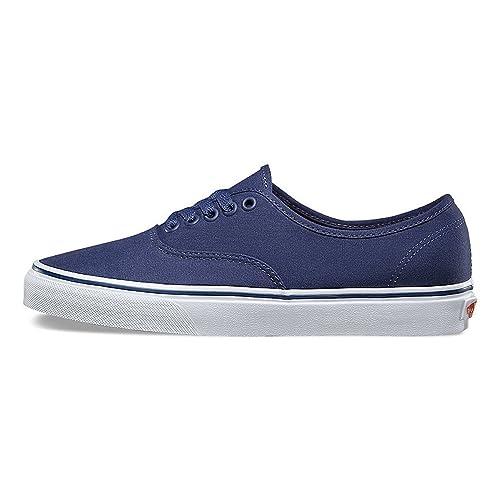 Vans Unisex Authentic (Pop Canvas) Skate Shoes, Crown Blue/True White,