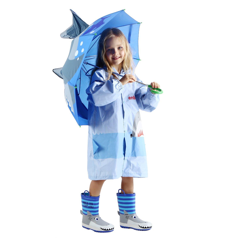 Amazon.com: Chubasquero para niños con diseño de tiburón en ...