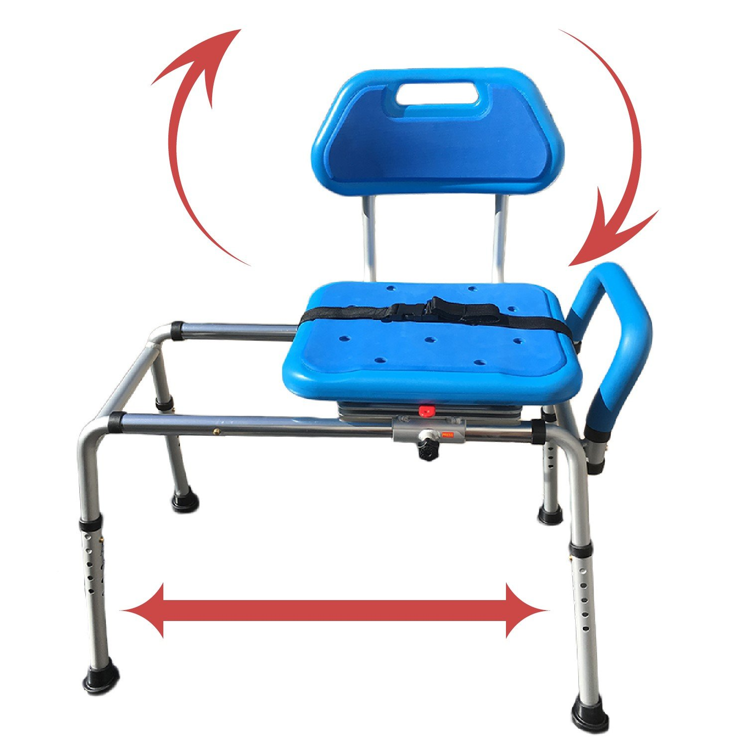 Gateway Premium Sliding Bath Transfer Bench with Swivel Seat-PADDED by Platinum Health (Image #1)