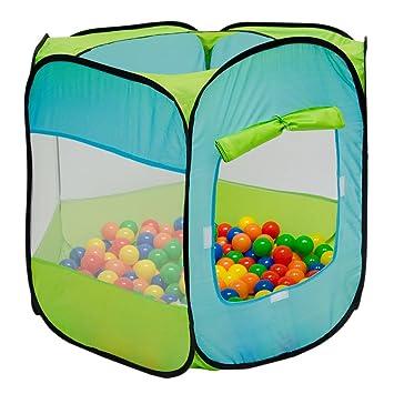 LittleTom Tienda de campaña Juguete para niños 100x100x72cm Piscina de Bolas Azul