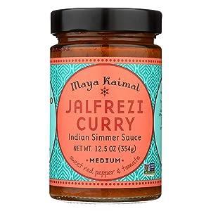 Maya Kaimal Jalfrezi Curry Medium Indian Simmer Sauce, 12.5 Ounce -- 6 per case.