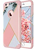 iPhone 6S Case,iPhone 6 Case Marble, ULAK Hybrid Slim Dual Layer Protective Hard Back Cover Soft Silicone Case for Apple iPhone 6 / 6S 4.7 inch, Artistic-Pink Marble