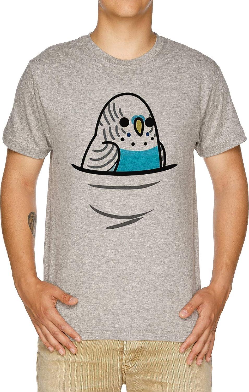 Vendax También Muchos ¡Aves! - Azul Periquito Camiseta Hombre Gris: Amazon.es: Ropa y accesorios
