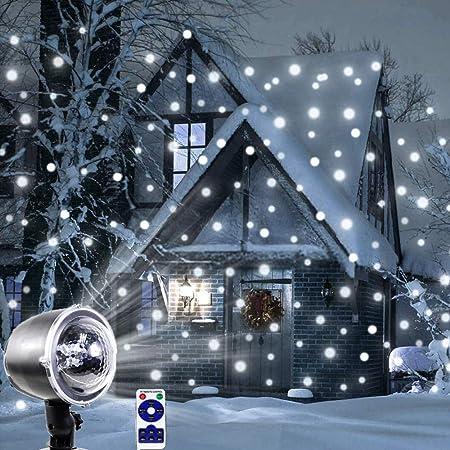 Nevadas Led Luces del Escenario Pantallas Proyector Espectáculo Navidad Al Aire Libre Interior Rotación Copo De Nieve Lámpara Navidad Jardín Paisaje Decoración,C: Amazon.es: Hogar