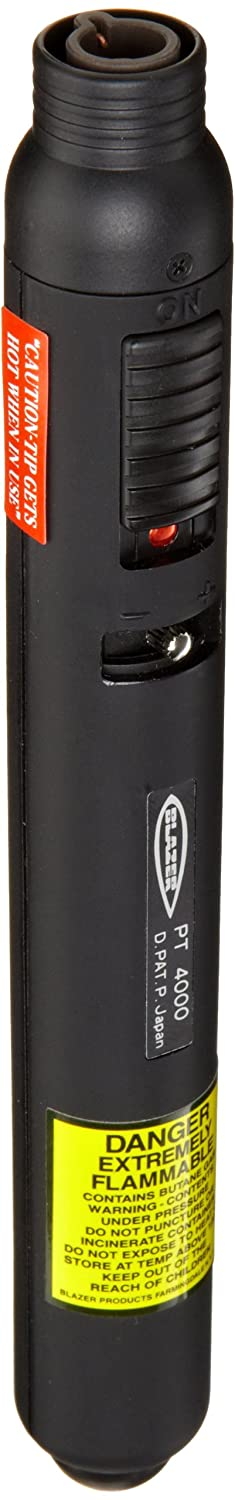 The PT4000 Pencil Torch operates with a standard butane canister (sold separately) Blazer