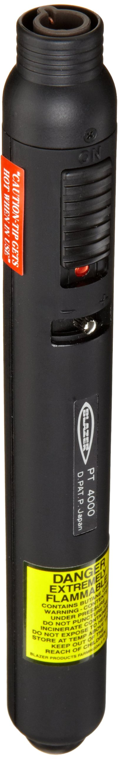 The PT4000 Pencil Torch operates with a standard butane canister (sold separately) by Blazer