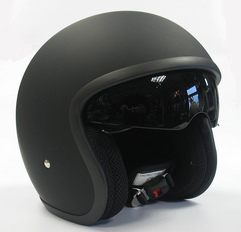 Viper RS-V06 Open Face Drop Down Visor, Motorcycle Crash Helmet Matt Black Extra Large Motohart