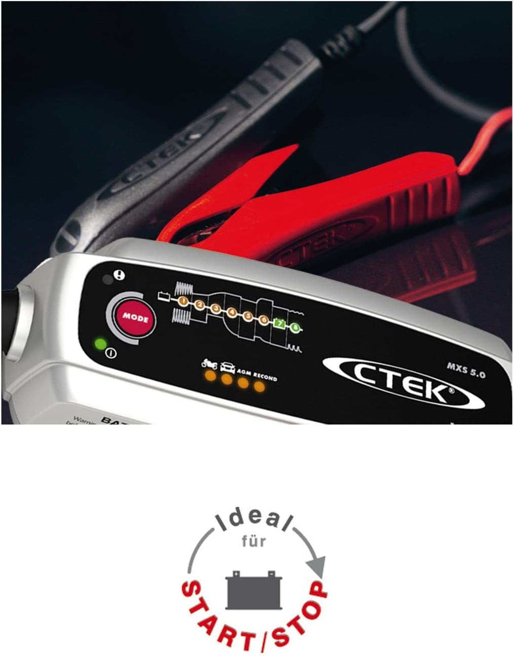 Ctek MXS 5.0/ battery Sense bater/ía Cargador de bater/ía W/ächter laderhal tungs dispositivo