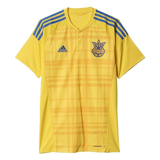 Adidas Ucrania Home réplica de la Camiseta - Amarillo - AC5580, Amarillo: Amazon.es: Deportes y aire libre