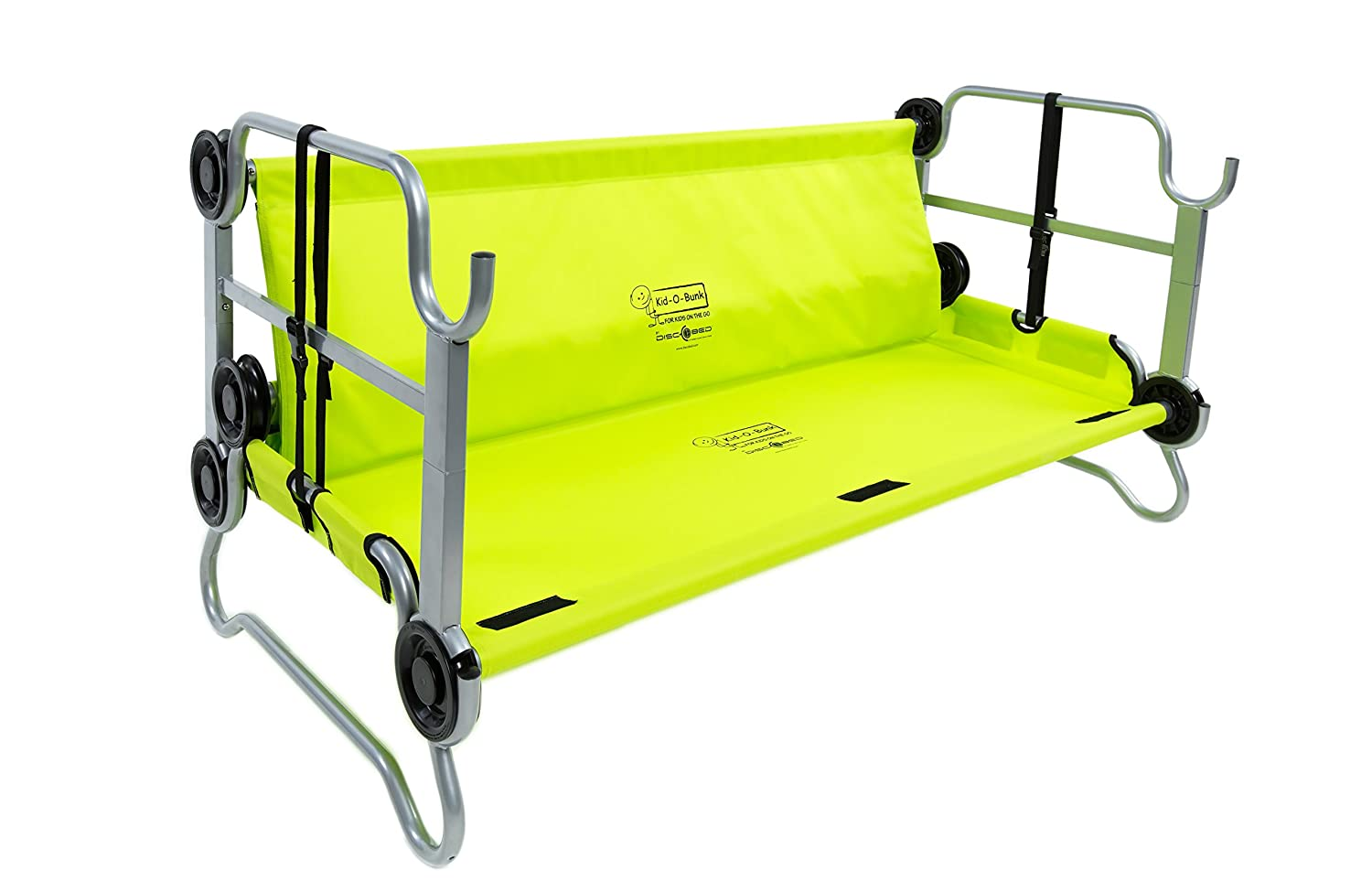 Amazon Disc O Bed Youth Kid Bunk With Organizers Lime Green Sports Outdoors