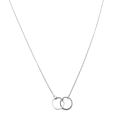 Honeycat Harmony Interlocking Circle Necklace In Gold, Rose Gold, Or Silver | Delicate Jewelry by Honeycat