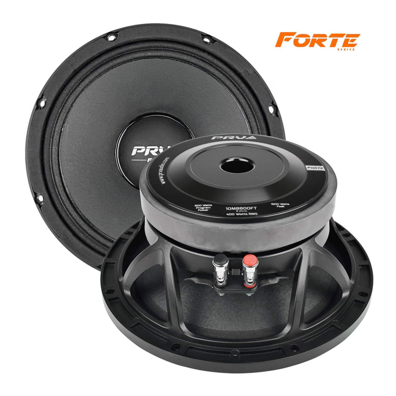 PRV AUDIO 10MB800FT 10'' Mid Bass 8 ohms Pro Audio Speaker 99dB 400 Watts RMS 2.5'' VC (Single)