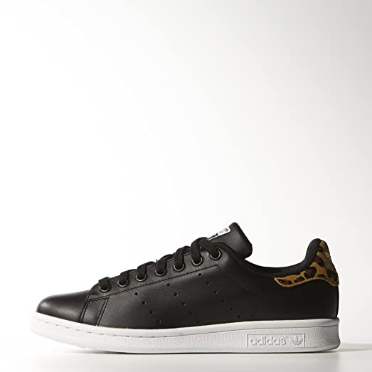 Stan Smith W Ladies (Animal Pack) in Black by Adidas 9.5