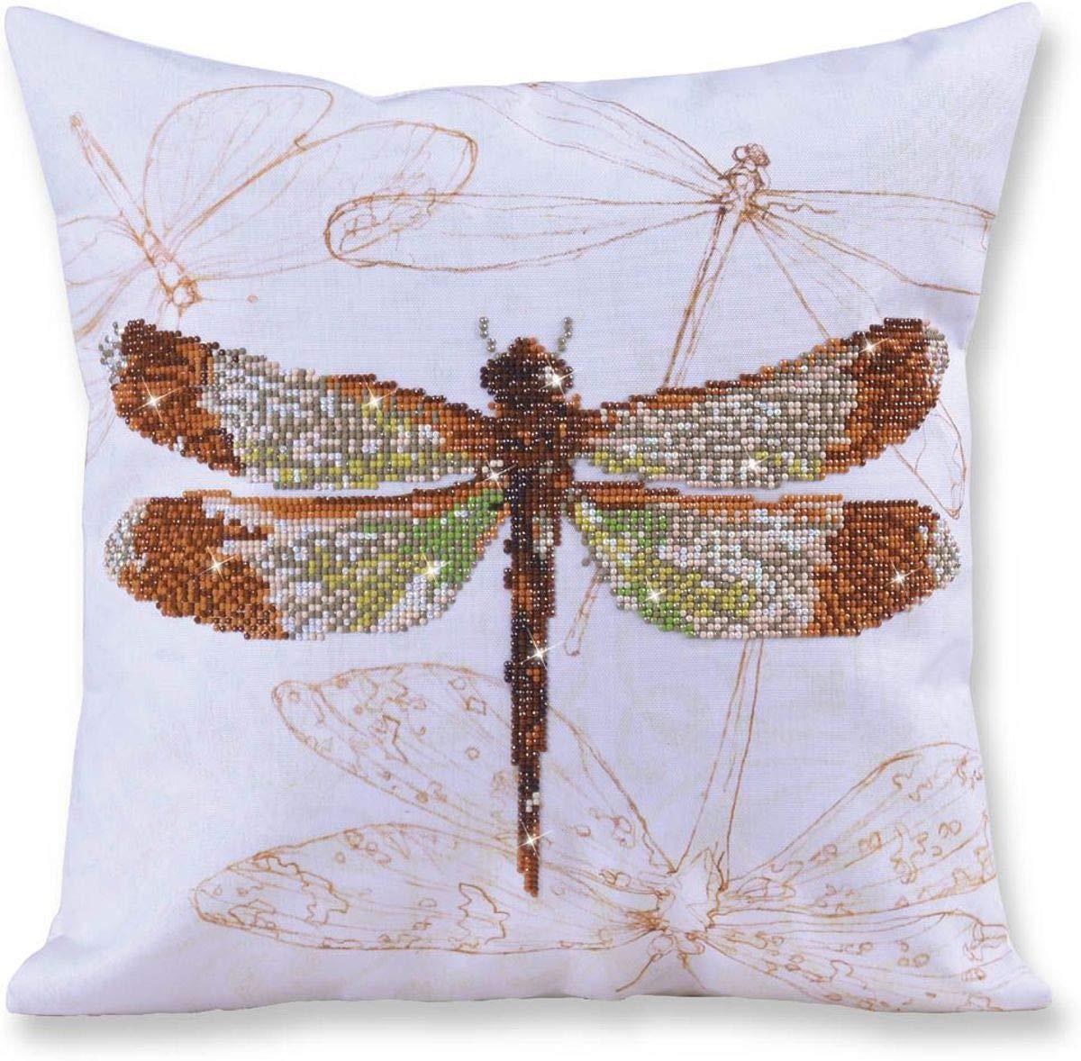 Diamond Dotz Diamond Embroidery Pillow Facet Art KitDragonfly Earth (17.5 X17.5 )