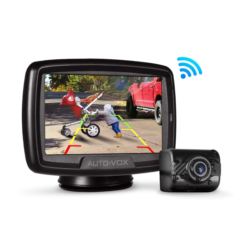 AUTO-VOX W2 Digital-Rü ckfahrkamera-Set mit eingebautem Sender, wasserdicht IP68-Rü ckfahrkamera und 4,3-Zoll-LCD-Rü ckfahrkamera fü r Schrä gheck, SUV, RV, Mini, Bus, Van, LKW, Anhä nger