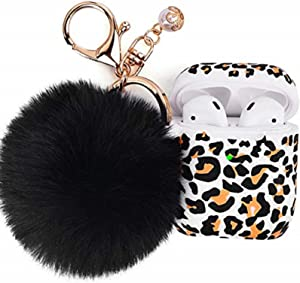 FILOTO Leopard Case for Airpods , Filoto Airpod Case Cover for Apple Airpods 2&1 Charging Case, Cute Cheetah Print Air Pods Silicone Soft Case Accessories Keychain/Skin/Pompom/Strap (Leopard)