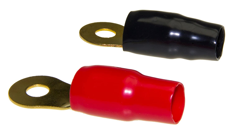 Adaptateur Bague Universe/® 2/x Terminal C/âble /électrique Rouge Chaussures Noir l/ötfrei Kit pour 0/GA Gauge C/âble