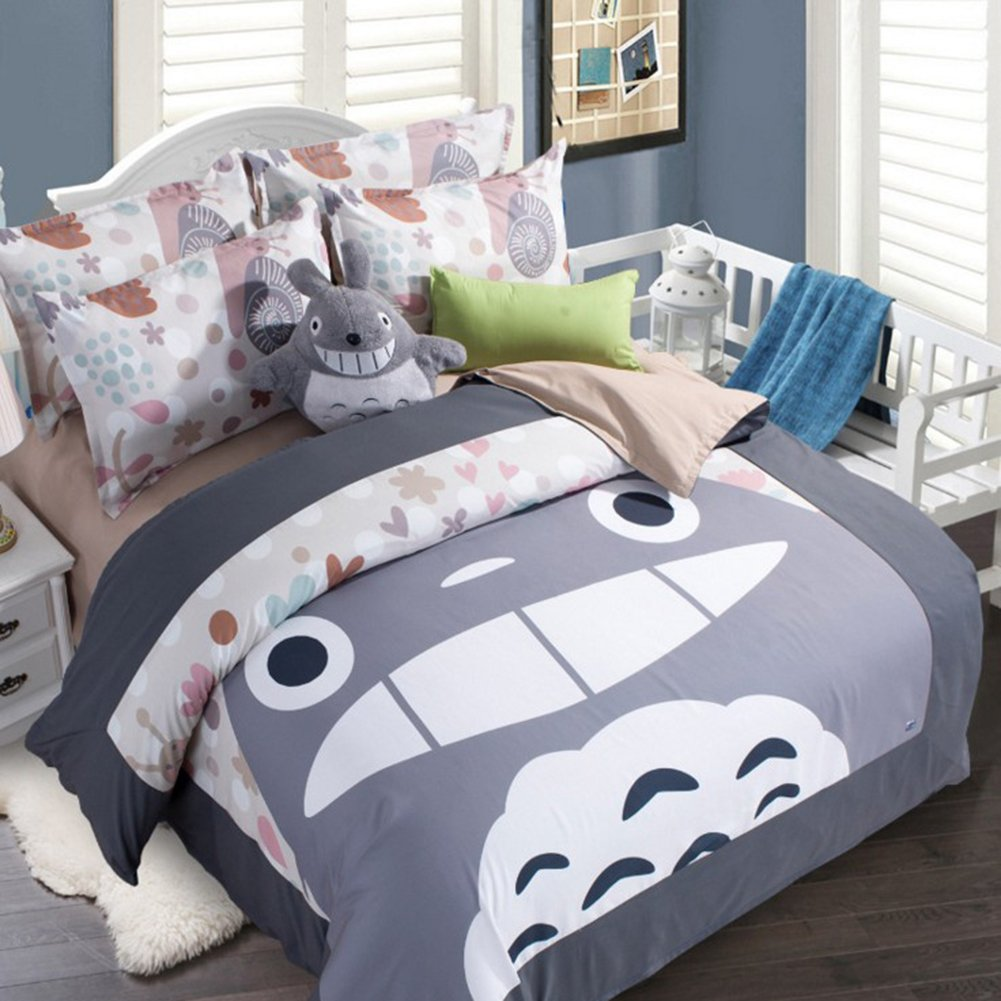 Cartoon My Neighbor Totoro Bedding Sets - Sport Do Ultra Soft Children Favorite Gifts Flat Sheet 3PC Twin