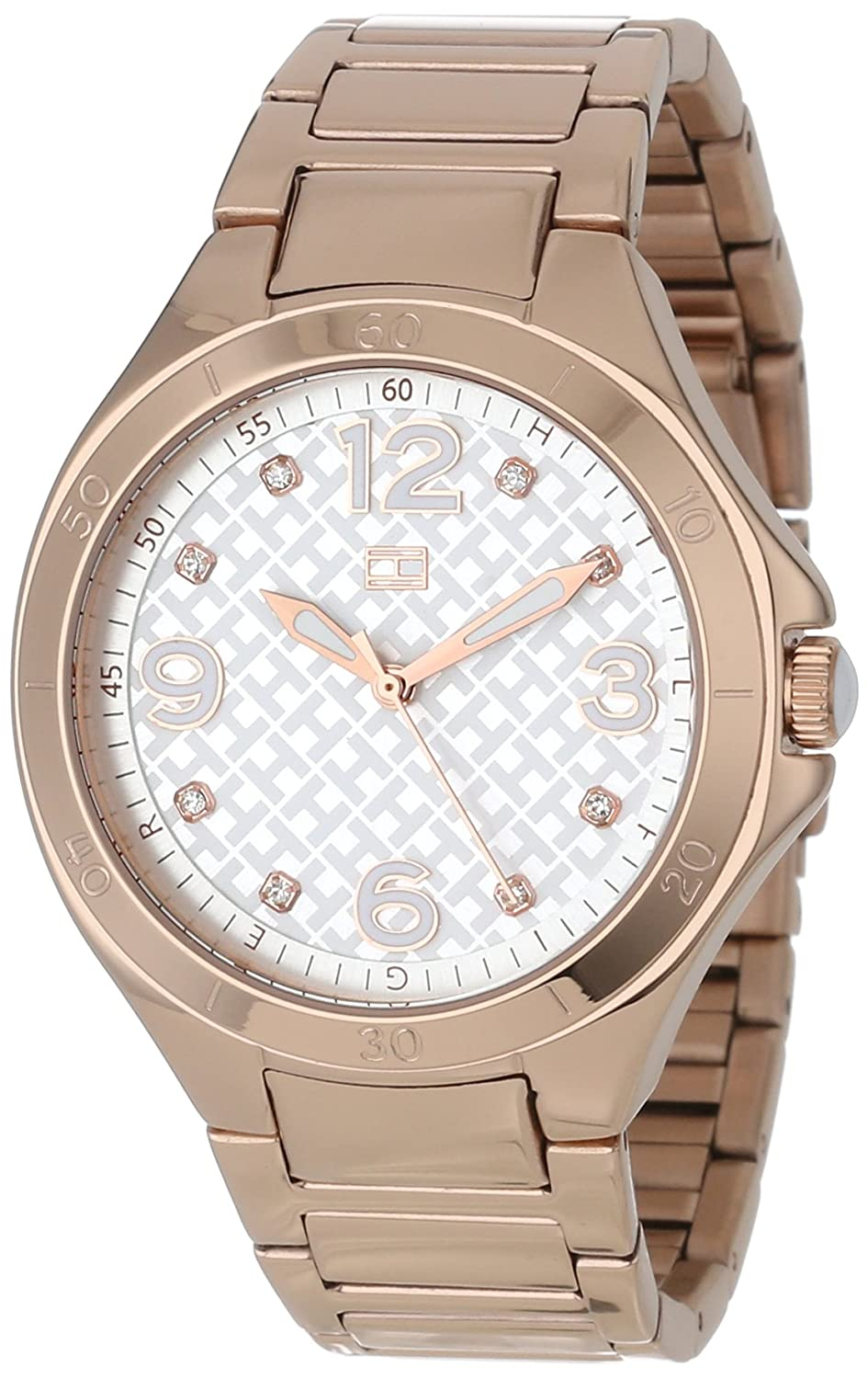 e58d201cc1c4 Tommy Hilfiger Women s 1781316 Rose-Gold Stainless-Steel Quartz Watch with  Silver Dial  Tommy Hilfiger  Amazon.co.uk  Watches
