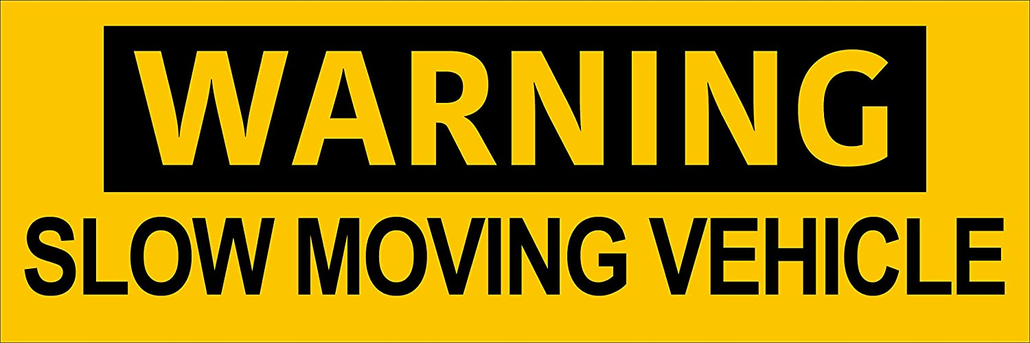 Safety Driving Truck semi American Vinyl Warning Slow Moving Vehicle Bumper Sticker