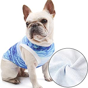 Delifur Dog Cool Vest Instant Cooling Clothes for Bulldog Cats on Summer