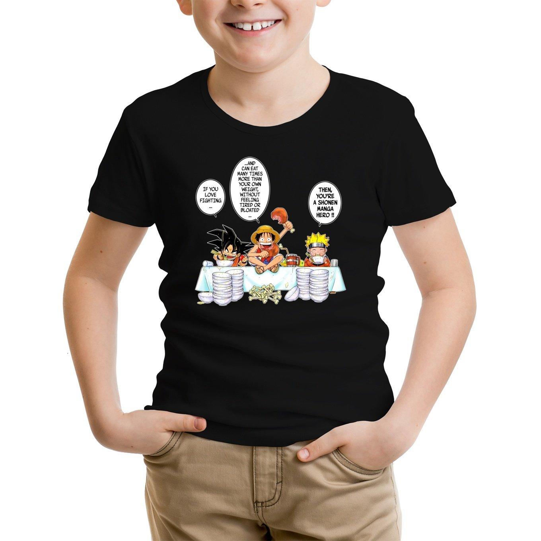 Manga Baby T-Shirt Parodie auf Son-Goku von Dragon Ball Z und Ruffy von One Piece und Naruto 773