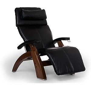 Human Touch Perfect Chair PC-420 Classic Plus Premium Full Grain Leather Zero Gravity Recliner, Black