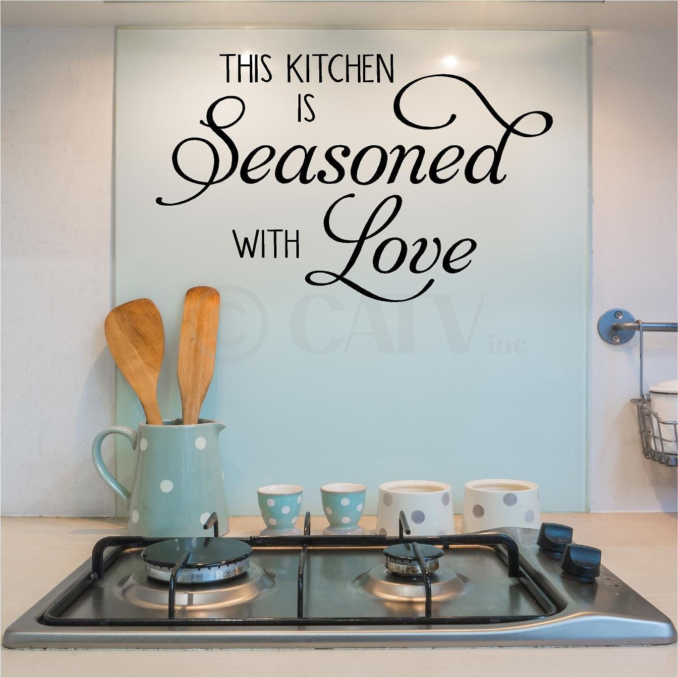 Amazon.com: This Kitchen Is Seasoned with Love wall stickers home ...
