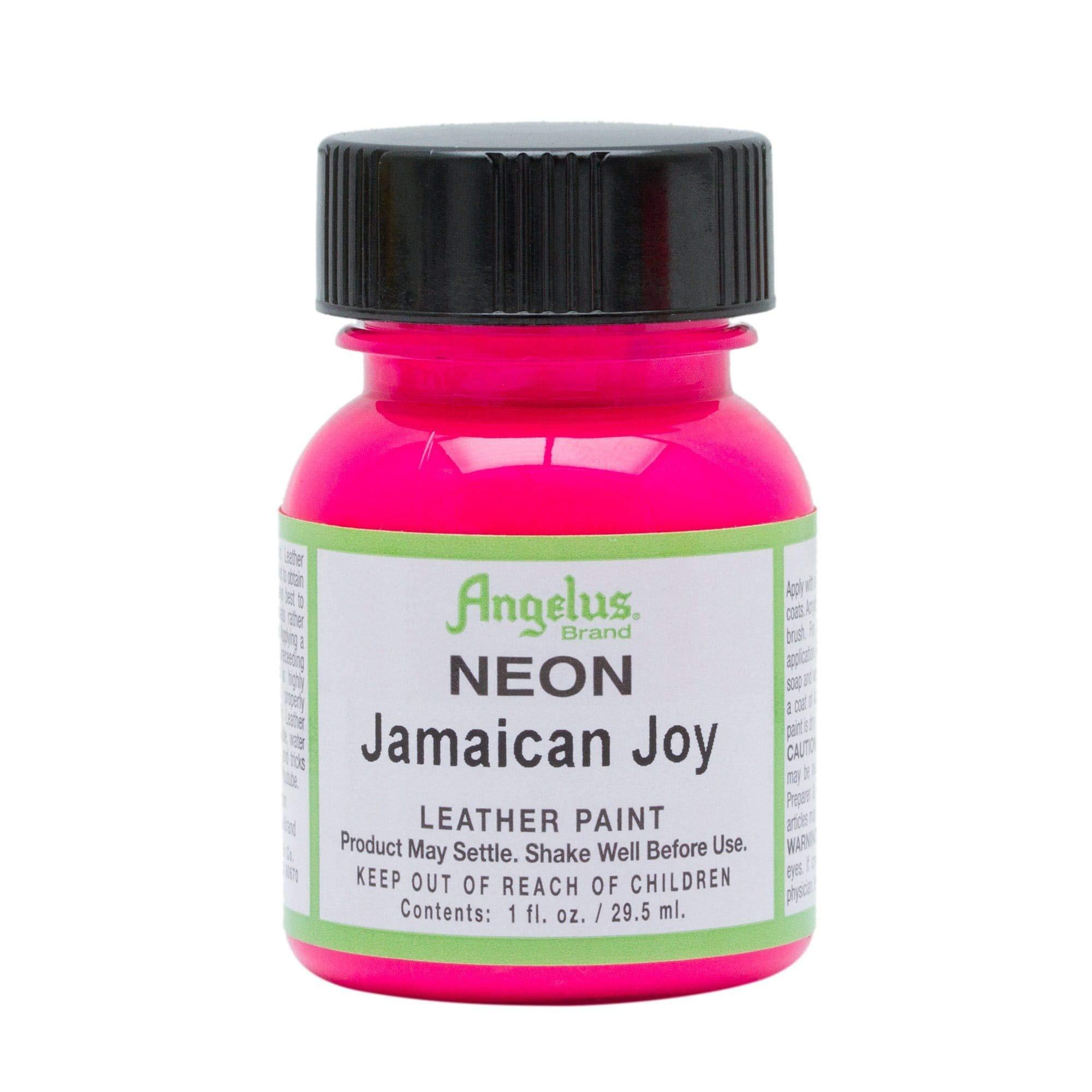 Angelus Leather Paint 1 oz Neon Jamaican Joy