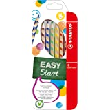 STABILO EASYcolors Ergonomic Colouring Pencil, Left Handed - Assorted Colours, Wallet of 6