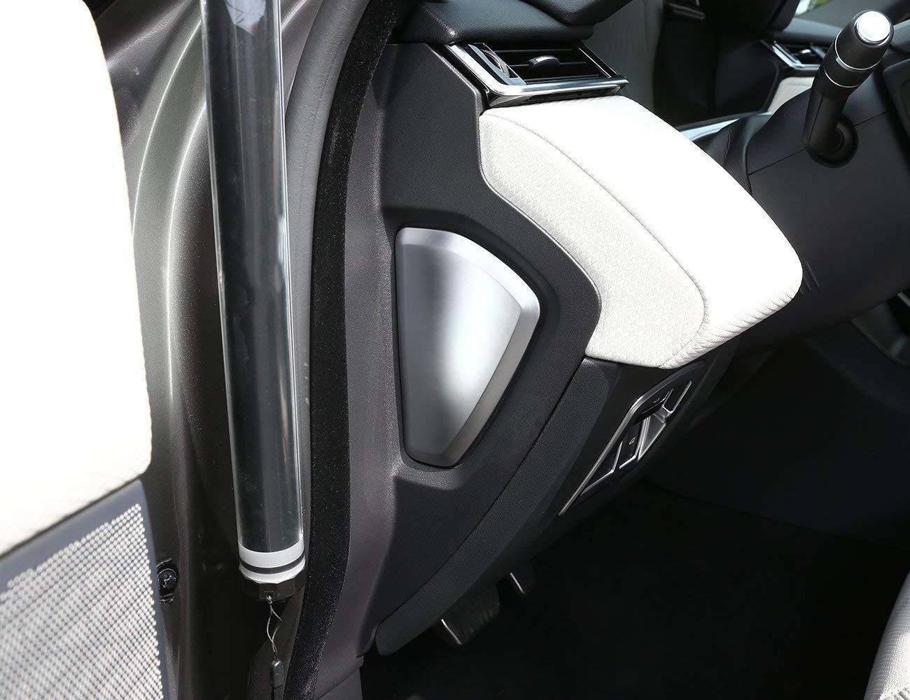 Accessoires de Voiture de Garniture de Couverture laté rale de dé coration en Plastique ABS pour RR Velar 2017 Argent Mat Auto-broy