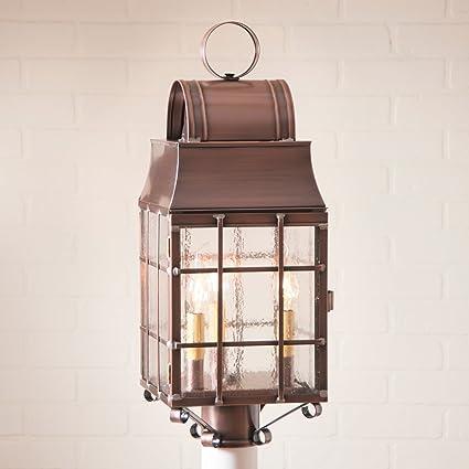 Amazon irvins country tinware metal outdoor lighting irvins country tinware metal outdoor lighting washington post lantern in antique copper 9 x 235 x aloadofball Images