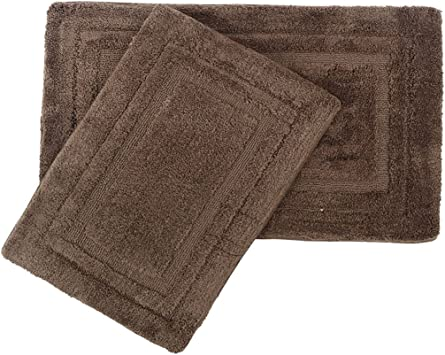 """Bathroom Rugs Natural 24/"""" x 40/"""" Queen Cotton Rubber Mat Nonskid Backing Washable"""