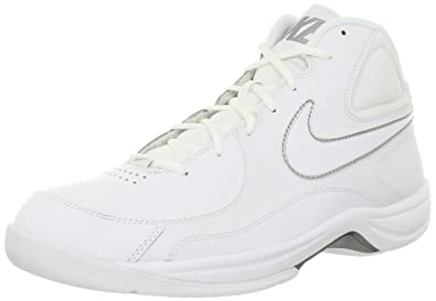 2f04425cbdafb Nike The Overplay VII Mens White Leather Basketball Shoes Size UK ...