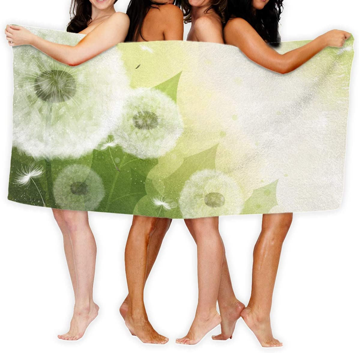 Gebrb Toallas de baño,Toalla de Playa,Manta de Playa Large Bath Towel Dandelion Art Image Lightweight High Absorbency Bath Sheet for Beach Home Bathrooms Pool Gym