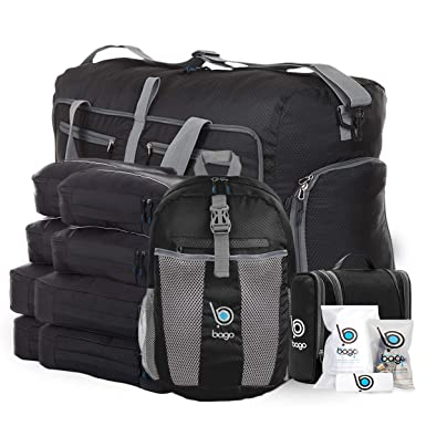 2ce45870c5 Bago Travel Luggage Set - 27 quot  Duffle - 8 Packing Cubes - Backpack    Toiletry