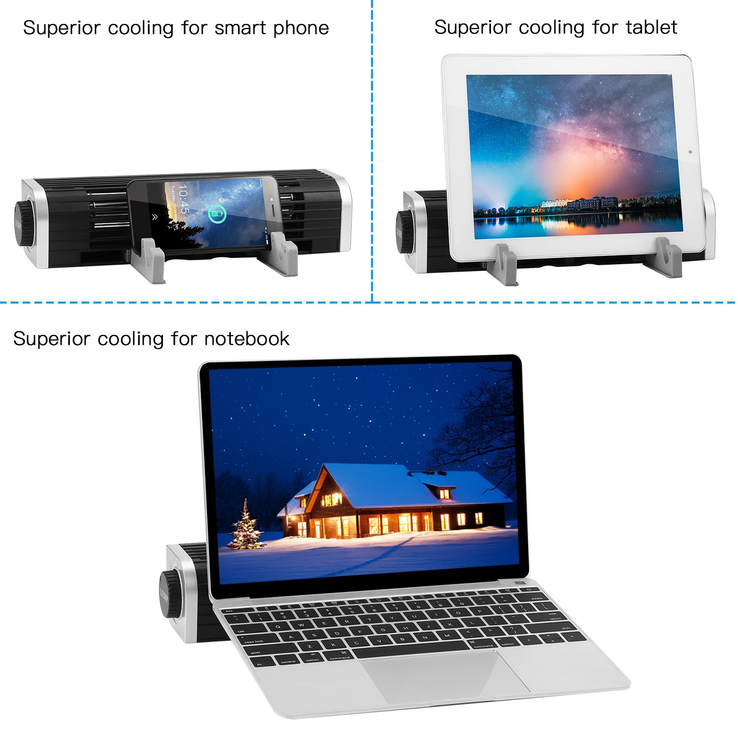 Leshp Laptop Cooling Fan Pad Stand Usb Fans Powered Cross Flow Cooler Notebook Computer Tablet