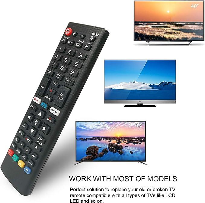 Mando a Distancia de Repuesto LG TV de Repuesto AKB75095308 Apto ...
