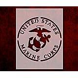 272 United States Marines Marine Corps 8.5 x 11 Stencil FAST FREE SHIPPING US U.S