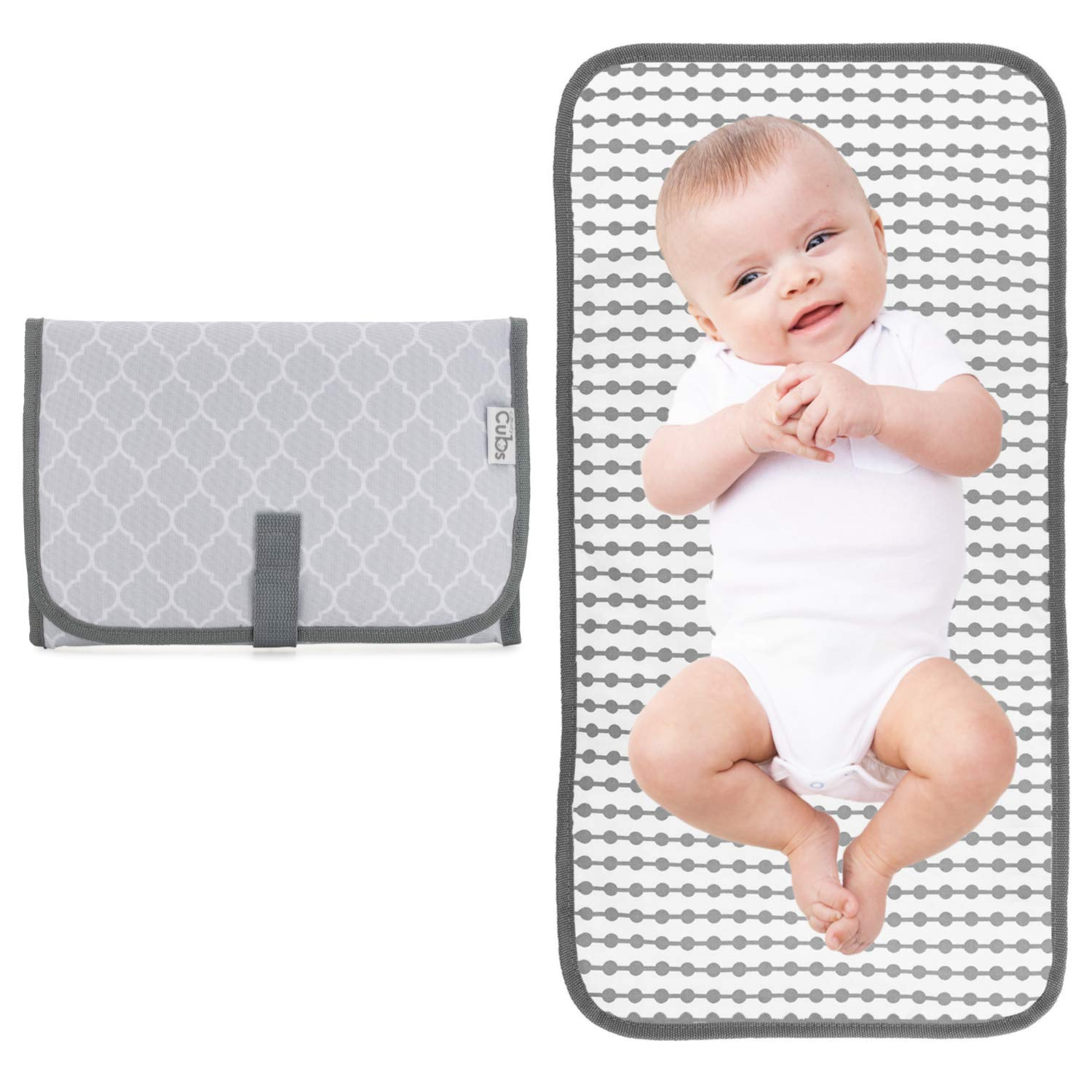 Travel Mat Station Grey Compact Diaper Bag Baby Portable Changing Pad
