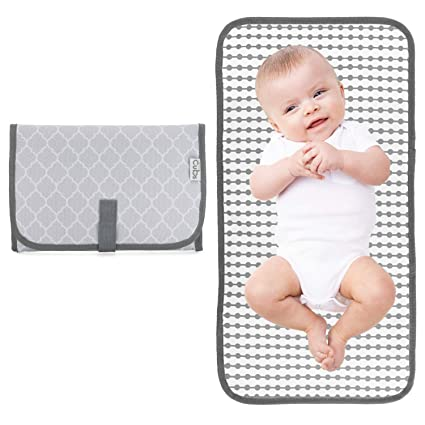 Baby Travel Changing Mat Portable Diaper Wipe Clean Waterproof Nappy Bag Pad D