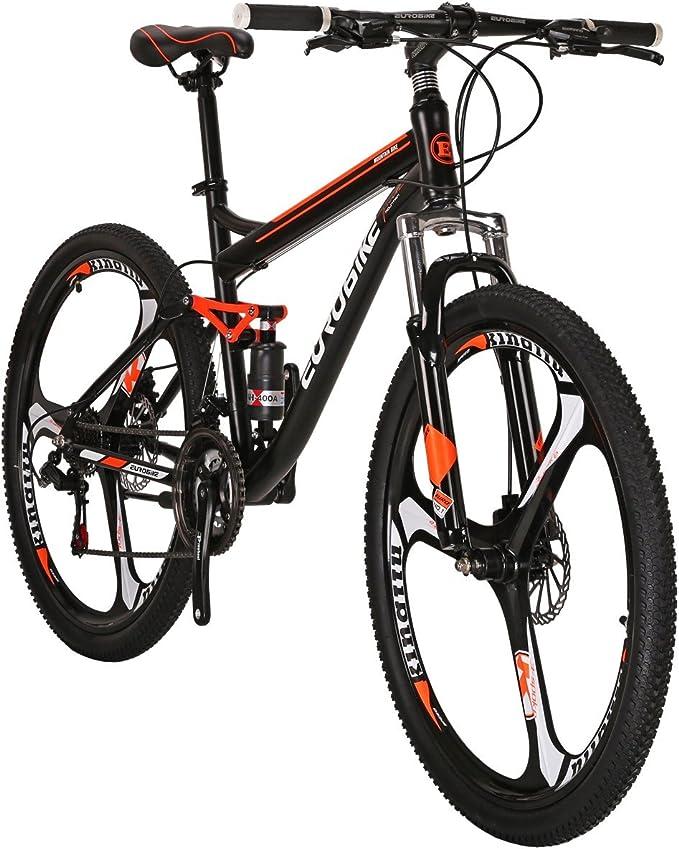 """X1 27.5/"""" Mountain Bike 21 Speed Mens Bicycle Daul Disc Brake front Suspension"""