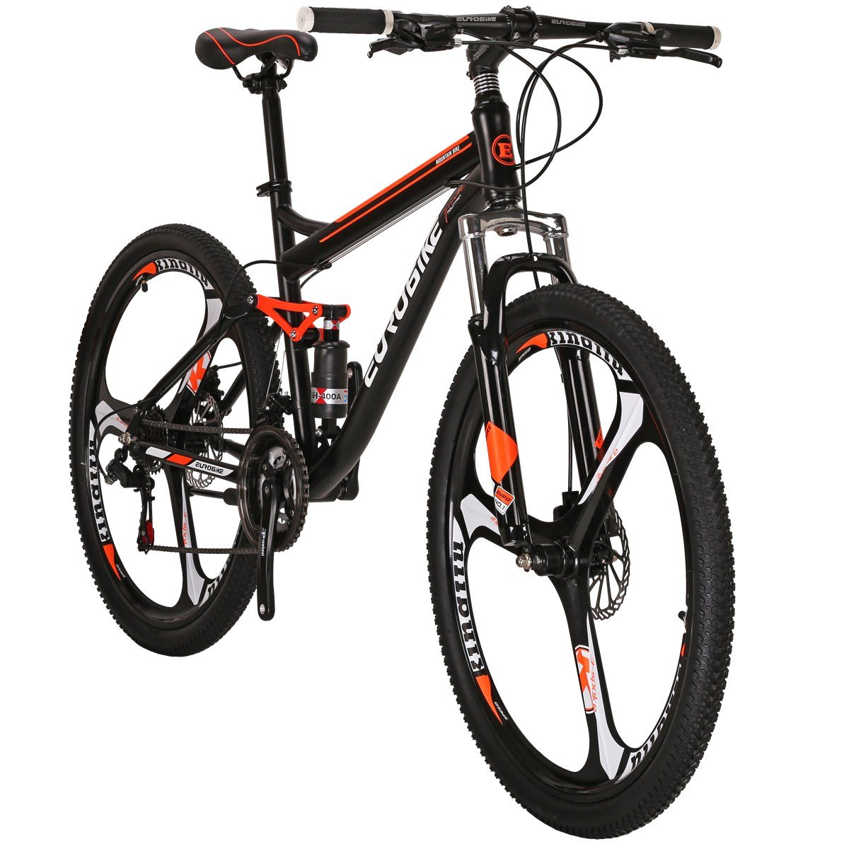 EUROBIKE Moutain Bike S7 Bicycle 21 Speed MTB