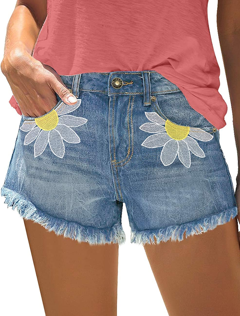 Womens Jean Shorts BLUE DENIM 4 Pockets SIZE 4 6 12 14