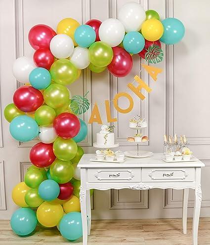 Amazon com: PartyWoo Aloha Balloons, 71pcs Lime Balloons