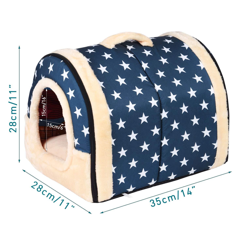 Adatto per 3 kg di gatti e cani per uso in ambienti interni elegante e comoda Enko Cuccia//letto 2 in 1 per animali domestici per cani e gatti. portatile e pieghevole
