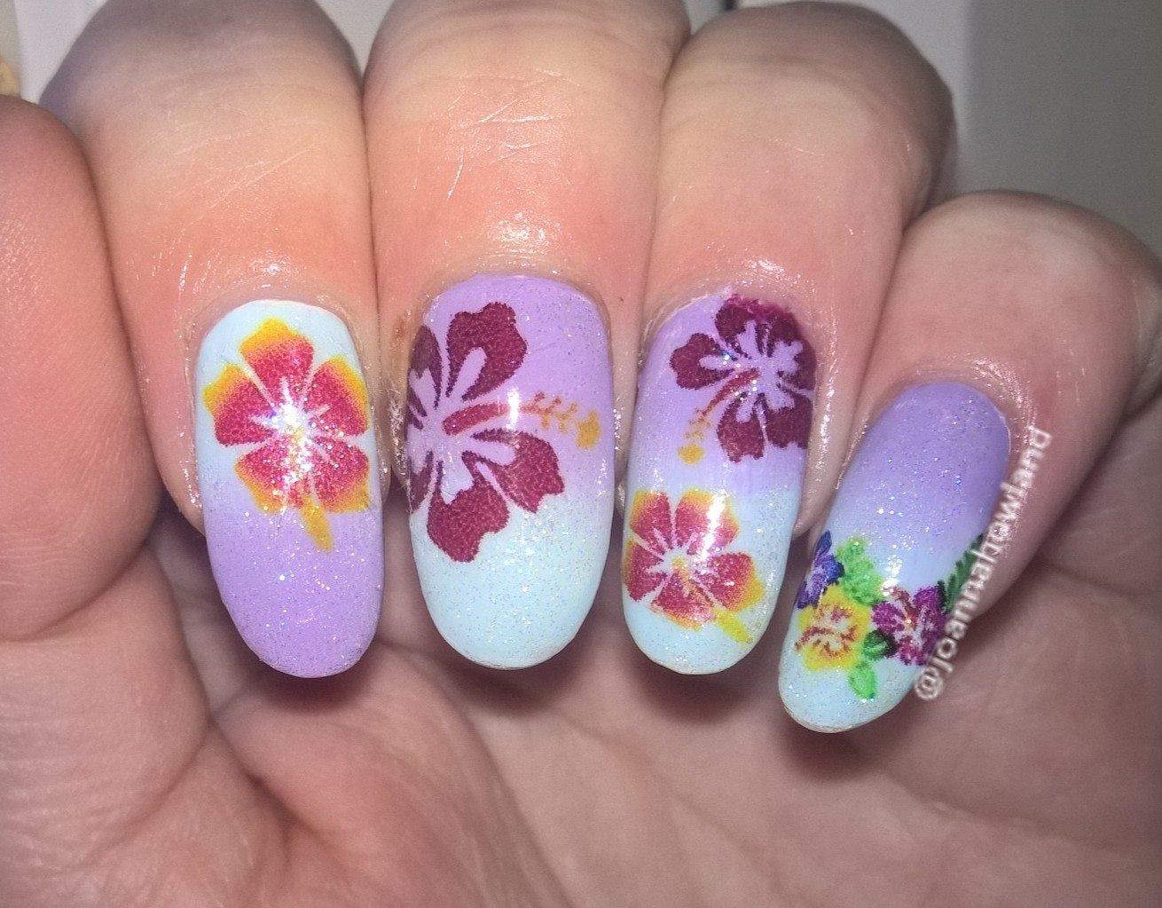 Amazon hibiscus flower collection hibiscus flower nail art amazon hibiscus flower collection hibiscus flower nail art decal jewelry izmirmasajfo
