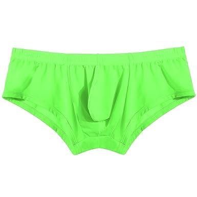 5b24ec0ba8 Avidlove Mens Underwear Sexy Bikinis Ice Silk Colorful Briefs  Amazon.co.uk   Clothing