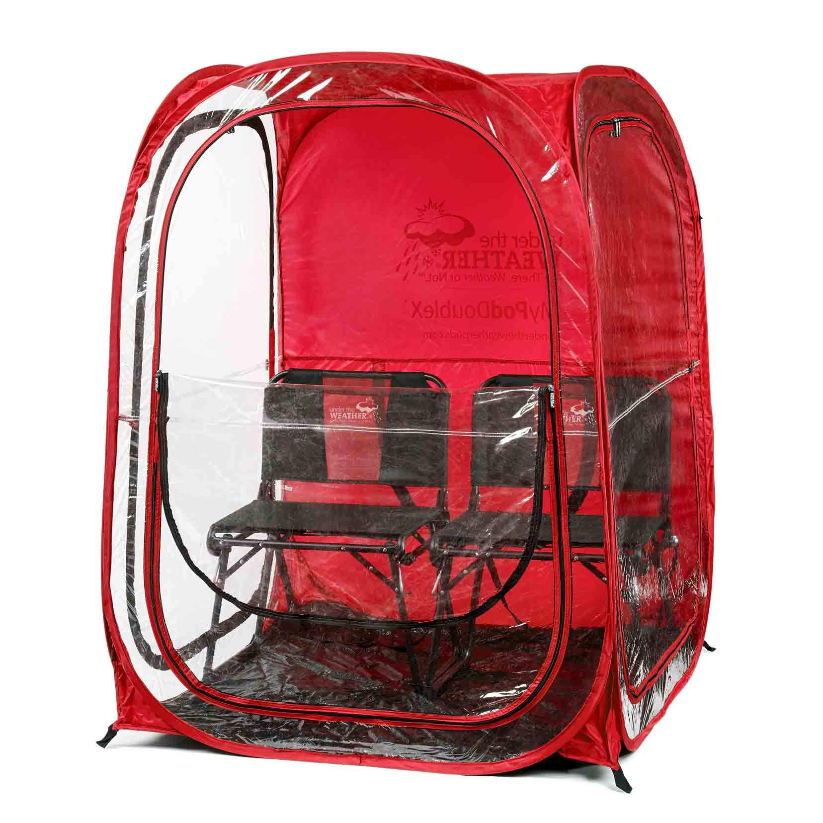 Under the Weather Red MyPodDoubleX 2 Person Pop-up Weather Pod. The Original, Patented WeatherPod by Under the Weather